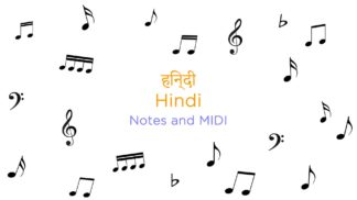 Hindi Songs Notes and MIDI