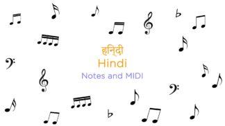 Hindi Songs Notes and MIDI