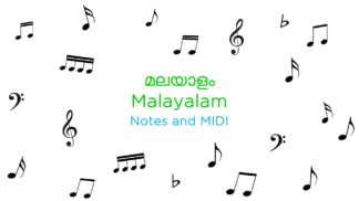 Malayalam Songs Notes and MIDI